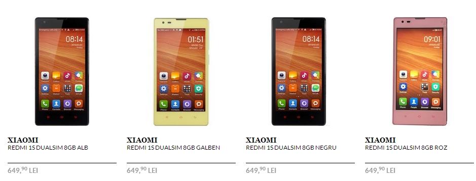 Xiaomi Redmi 1S disponibil prin Quickmobile.ro la un preț de 649 lei