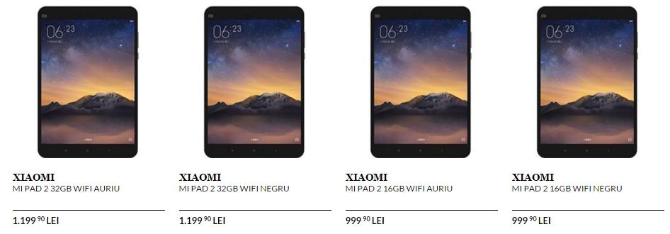 Tableta Xiaomi Mi Pad 2 poate fi cumpărată de astăzi prin intermediul QuickMobile.ro; costă 999 lei în varianta cu 16 GB de stocare