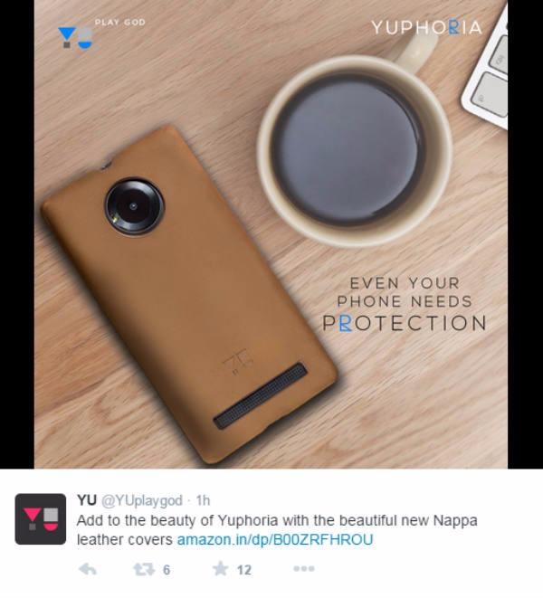 Următorul telefon cu spate din piele vine din India; Yu Yuphoria primeşte un capac spate din piele Nappa, ce costă 7 dolari