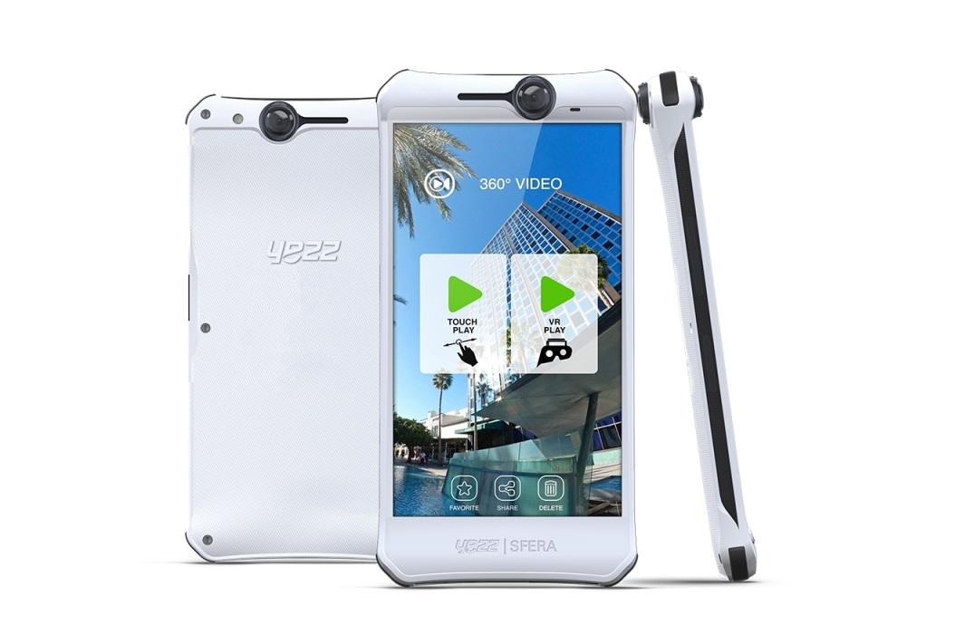 YEZZ Sfera este un telefon cu o cameră omnidirecţionala ce poate realiza captura la 360 de grade