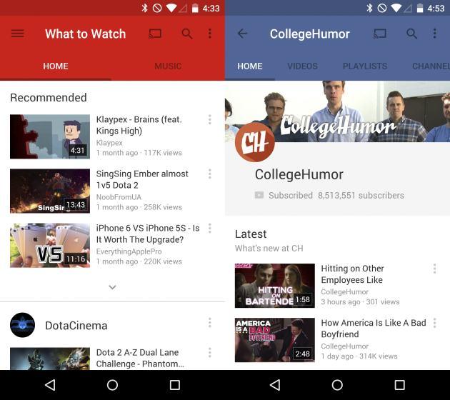 YouTube primește o actualizare ce Îi aduce Material Design; Puteți descărca APK-ul de aici