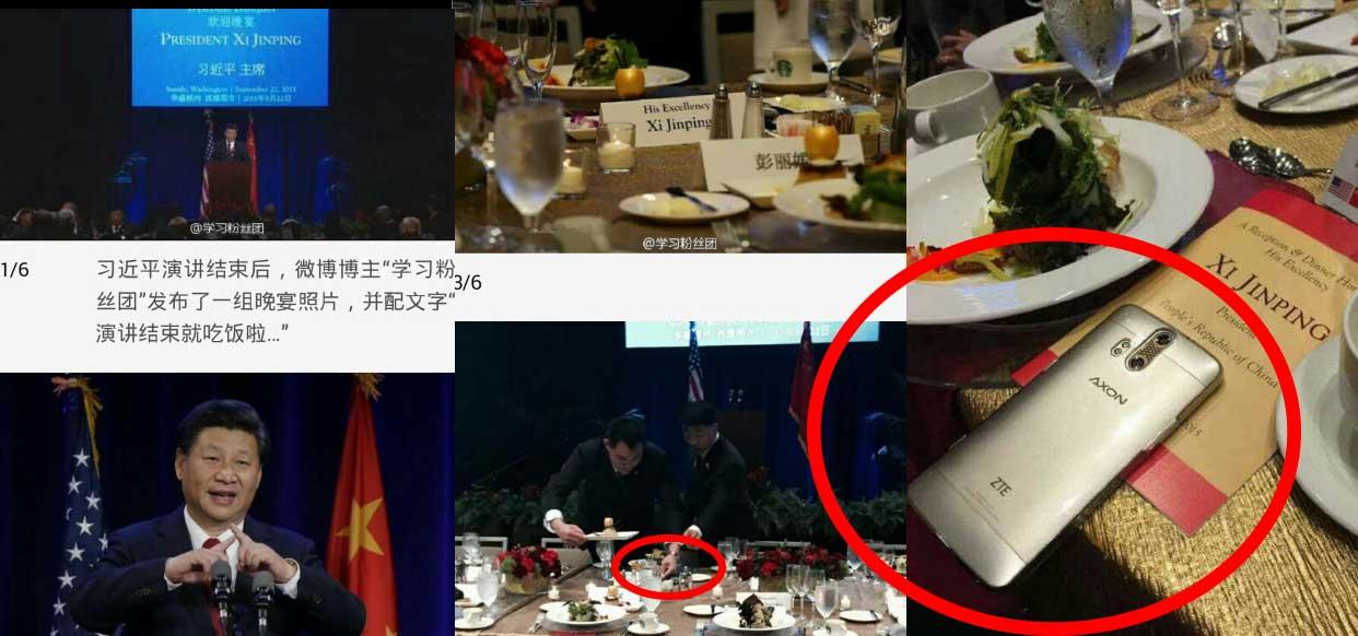 Preşedintele chinez, Xi Jinping vizitează SUA şi primeşte cadou la sosire un telefon ZTE Axon