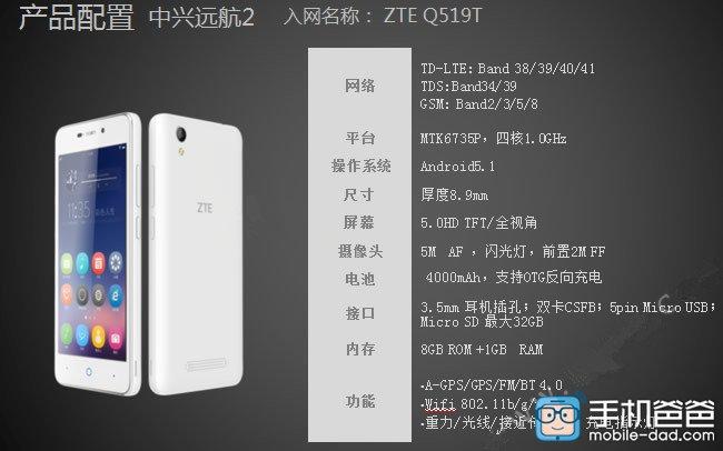 Imagini de presă cu ZTE Q519T se afișează online; telefonul sosește cu baterie de 4.000 mAh