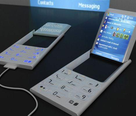 Superconceptul de telefon Windows Mobile cu proiector