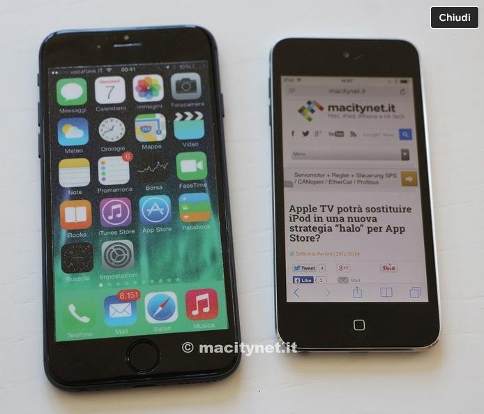 O nouă machetă de iPhone 6 ajunge a fi comparată cu iPod Touch