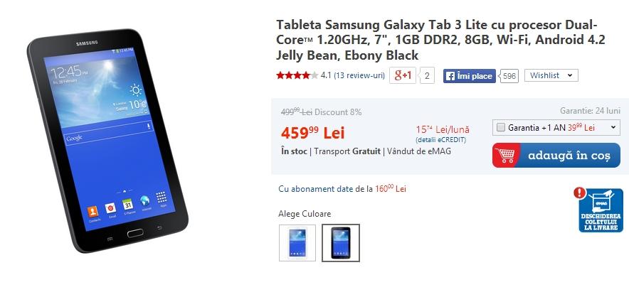 eMAG.ro desfășoara campania de reduceri Samsung Crazy Days În perioada 10 - 23 iulie; discounturi de până la 300 lei