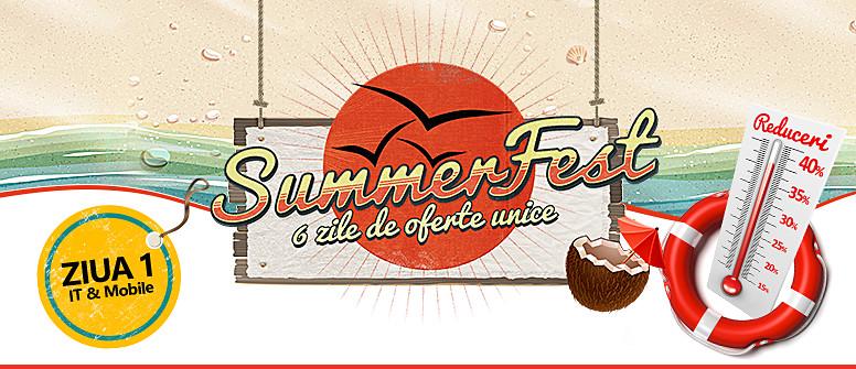 eMAG dă startul campaniei Summer Fest, promoție ce are loc în perioada 27 iulie - 1 august