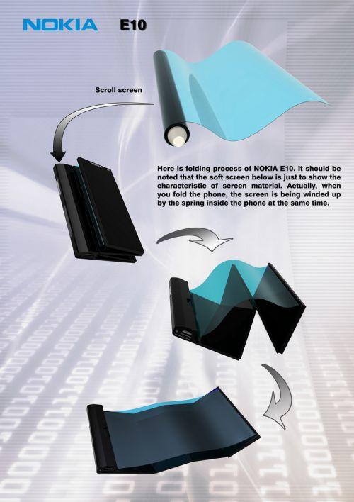 Nokia E10, telefonul flexibil cu MeeGo la bord și alimentare eco