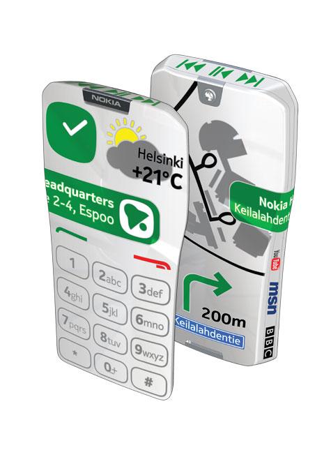 Nokia GEM, un telefon ultra-touchscreen creat de Nokia cu ecrane pe toate suprafețele (Video)