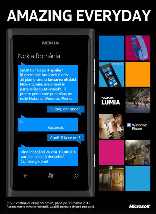 Nokia aduce oficial seria Lumia în România pe 3 aprilie