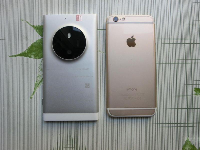 Nokia McLaren (Lumia 1030) este comparat În imagini cu iPhone 6