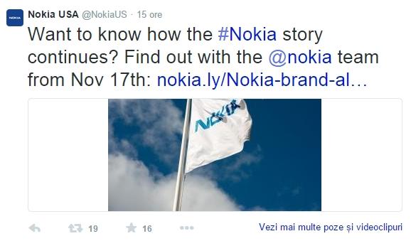 """Nokia ar putea anunța un smartphone cu Android pe 17 noiembrie, când """"ni se pregătește ceva"""""""