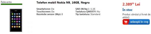 Prețul lui Nokia N9 a scăzut!