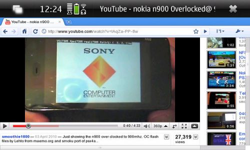 Google Chrome pe Nokia N900