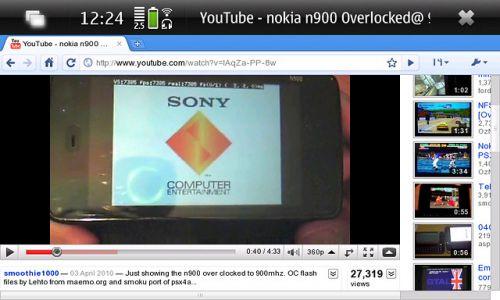 Google Chrome pe Nokia N900