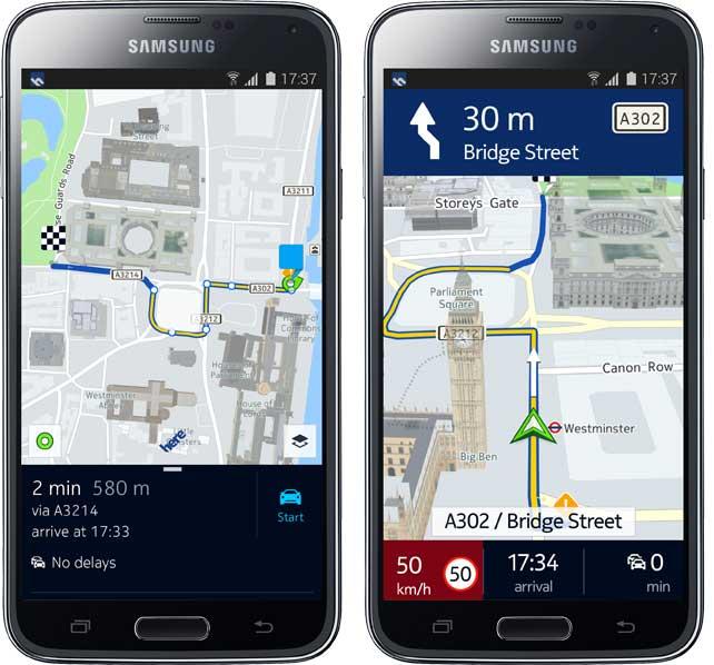 Nokia HERE disponibil acum pe toate terminalele Android compatibile, exclusivitatea Samsung ramane in aer