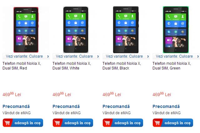 Pret Nokia X la eMAG