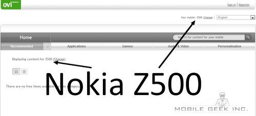 Nokia Z500
