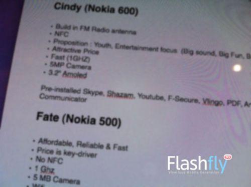 Nokia 500, Nokia 600