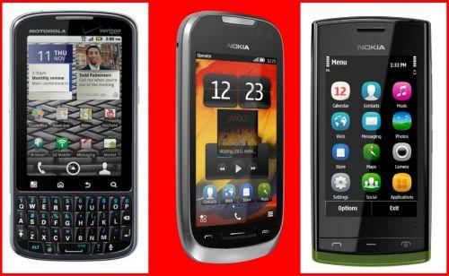 Telefoane noi în oferta magazinelor locale: Motorola Pro, Nokia 701, Nokia 500