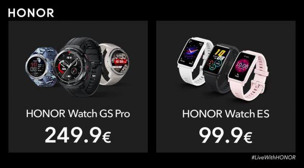 Honor anunţă ceasurile inteligente Honor Watch GS Pro şi Watch ES: ecran circular AMOLED + model de fitness dreptunghiular