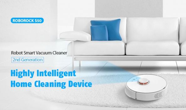 Roborock S50 Smart Robot Vacuum Cleaner from Xiaomi