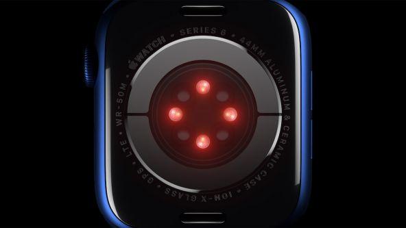 Apple Watch Series 6, măsurare a oxigenării sângelui