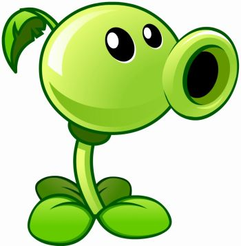 Pea Shooter din jocul Plants vs Zombies