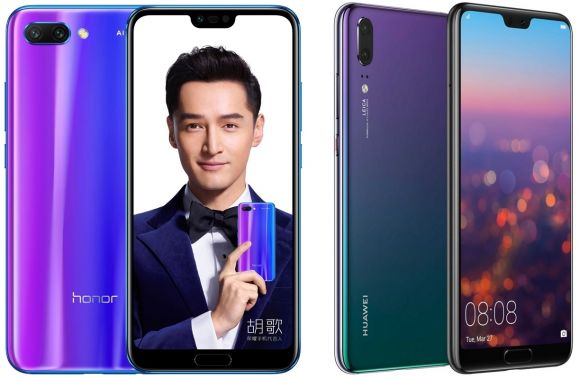 Honor 10 Vs P20