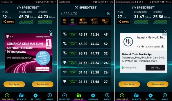 Speedtest Huawei P10 Plus Ookla