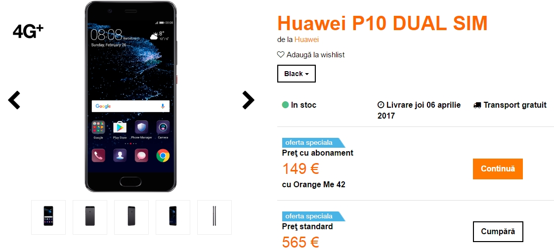 Huawei P10 Orange