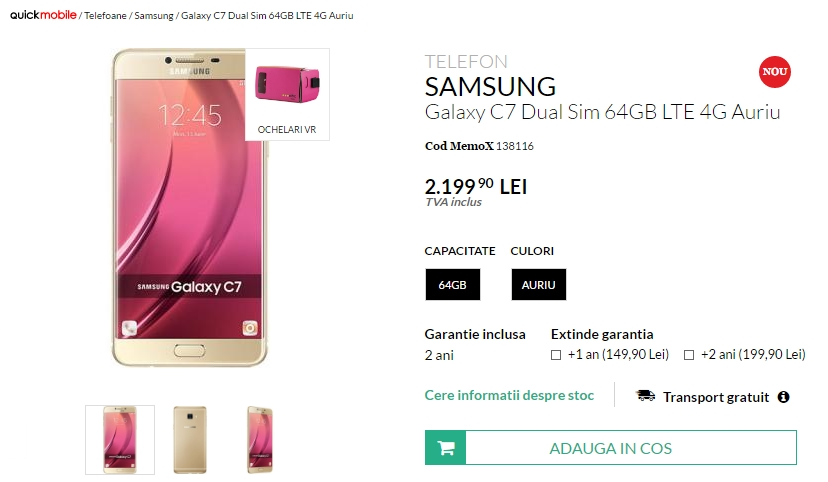 Samsung Galaxy C7 QuickMobile