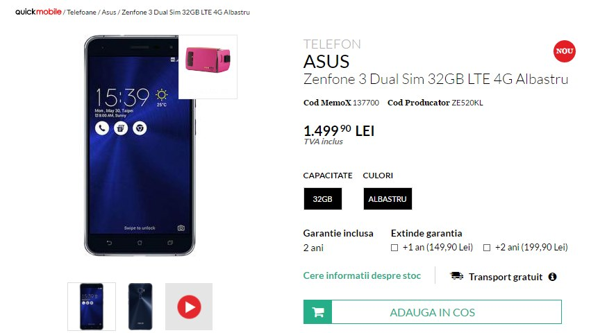 Asus ZenFone 3 QuickMobile
