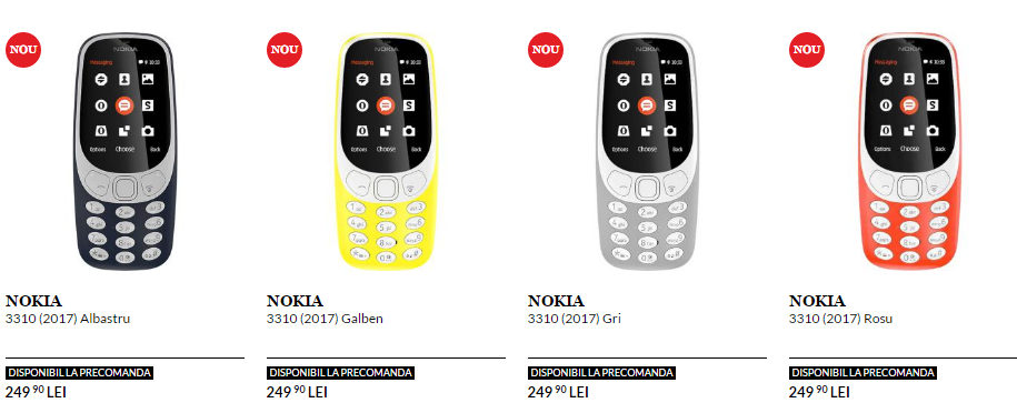 Nokia 3310 (2017) pret in Romania