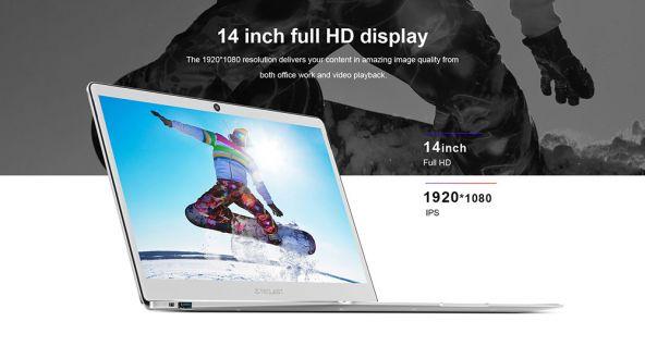 Teclast F7 Business Laptop Intel Apollo Lake N3450 Quad Core 14 Inch 1920*1080 6GB RAM 64GB eMMC Windows 10 - Silver