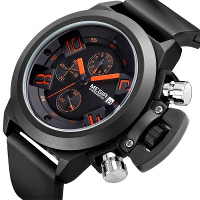 MEGIR 2002 Male Quartz Watch  -  BLACK