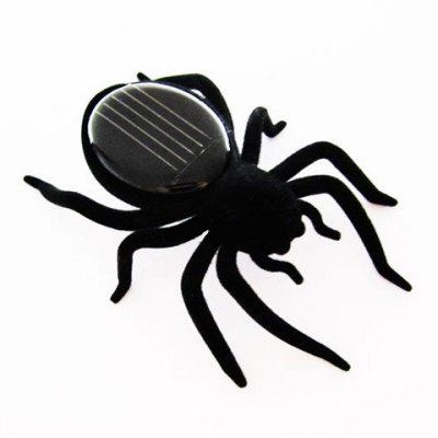 Mini Solar Energy Powered Spider Robot insect fun Toy gift