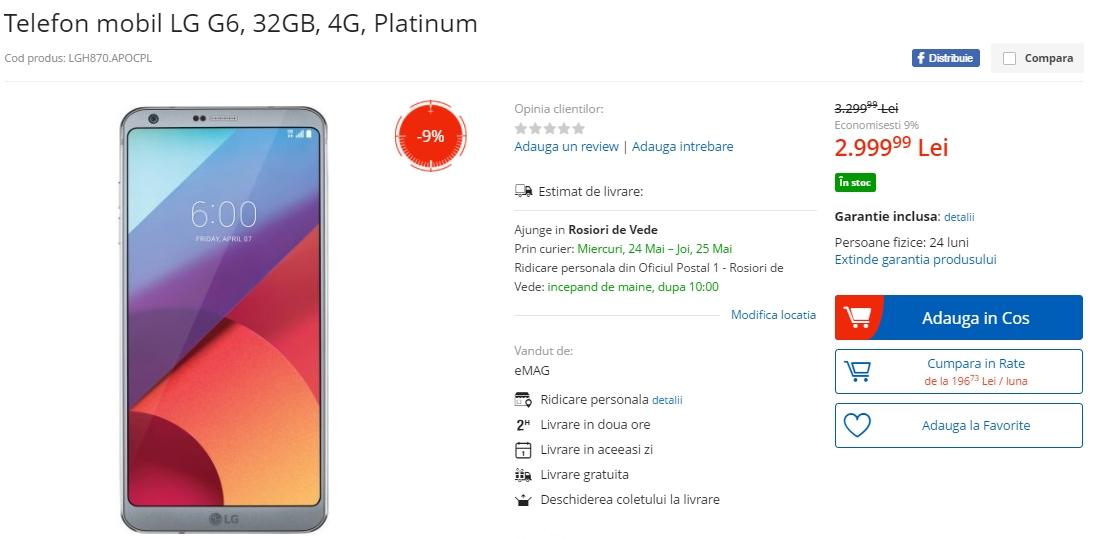 Aceasta este prima reducere oferită smartphone-ului de față și prețul  ajunge la 3.099 lei 0d94d7866a