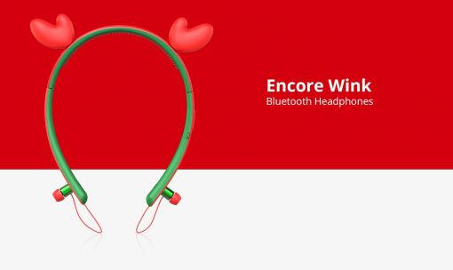 Tronsmart Encore Wink Bluetooth Headphones with LED Light - Red & Green