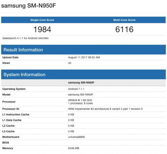 Benchmark Note 8