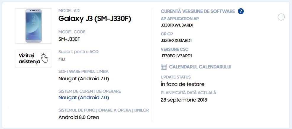 Samsung Galaxy J3 (2017), J5 (2017) și J7 (2017) vor primi