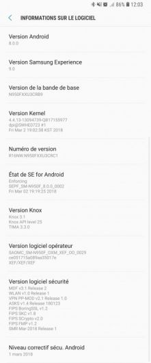 Android Oreo Note 8