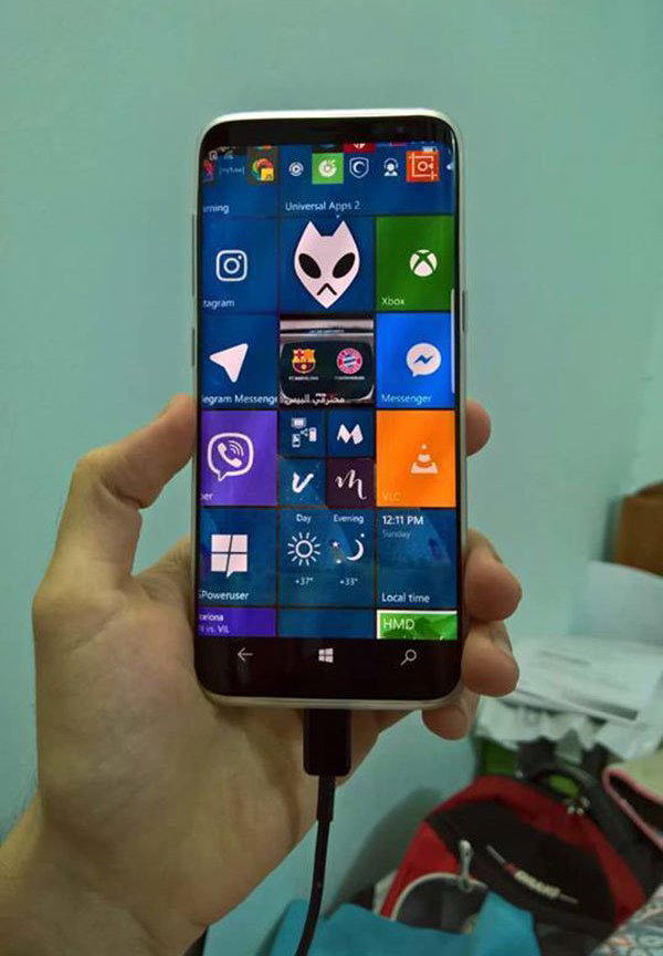 Samsung Galaxy S8 Windows 10 Mobile
