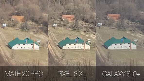 Comparație foto Samsung Galaxy S10+ vs. Google Pixel 3 XL vs. Huawei Mate 20 Pro (zoom in)