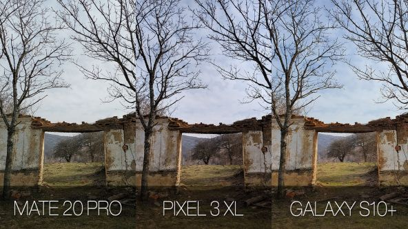 Comparație foto Samsung Galaxy S10+ vs. Google Pixel 3 XL vs. Huawei Mate 20 Pro (dynamic range)