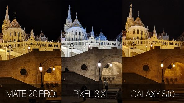 Comparație foto Samsung Galaxy S10+ vs. Google Pixel 3 XL vs. Huawei Mate 20 Pro (low light)