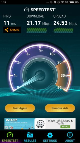 Xiaomi Mi 5 Speedtest