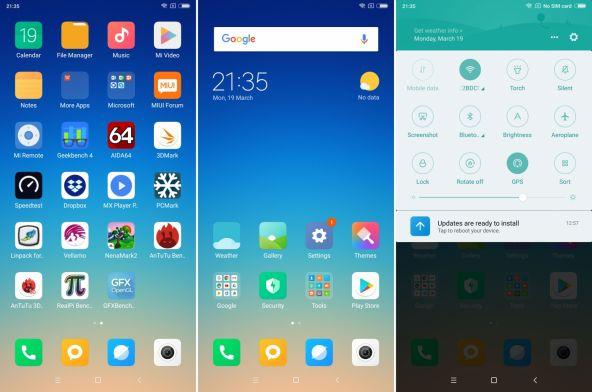 Interfata grafica Xiaomi Redmi 5 Plus