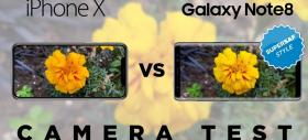 iPhone X versus Samsung Galaxy Note 8: comparaţia camerelor SuperSaf e aici; Note 8 e mai bun noaptea, iPhone X are dynamic range mai bun