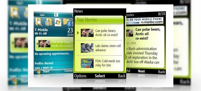 MSN Direct Weather, News si Stocks acum prin Windows Mobile